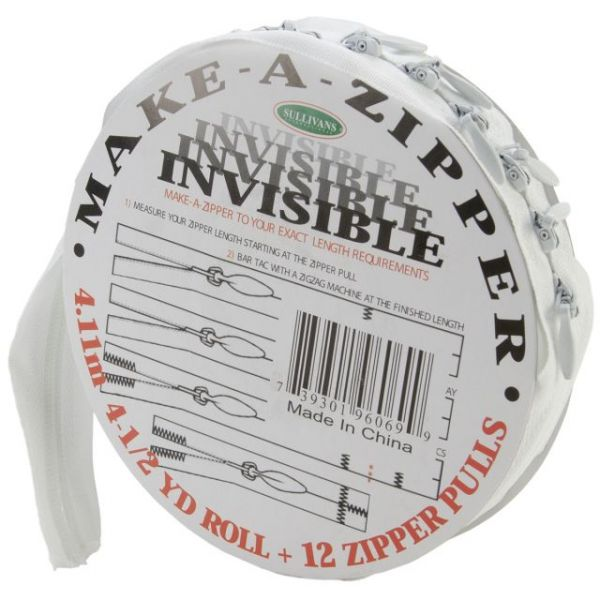 Make-A-Zipper Kit Invisible 4-1/2yd