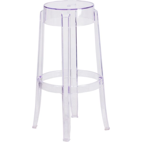 Flash Furniture 29.75'' High Transparent Barstool