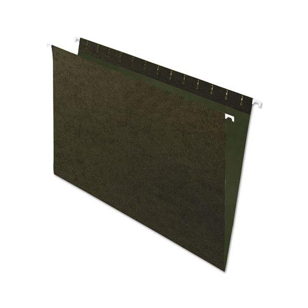 Pendaflex Standard Green Hanging Folders, Untabbed, Legal, 25/Box