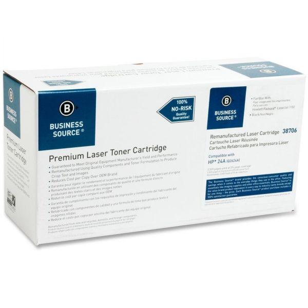 Business Source Remanufactured HP 24A (Q2624A) Toner Cartridge