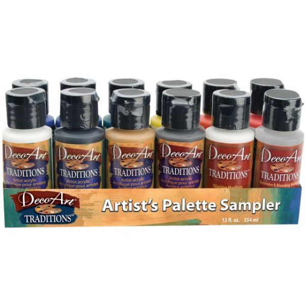 DecoArt Traditions Acrylic Paints 1oz 12/Pkg