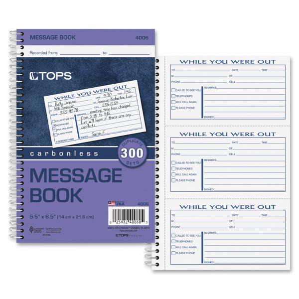 TOPS Important Message Book