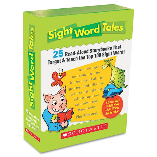 Scholastic Sight Word Tales, 25 Books/16 Pages and Teachers Guide