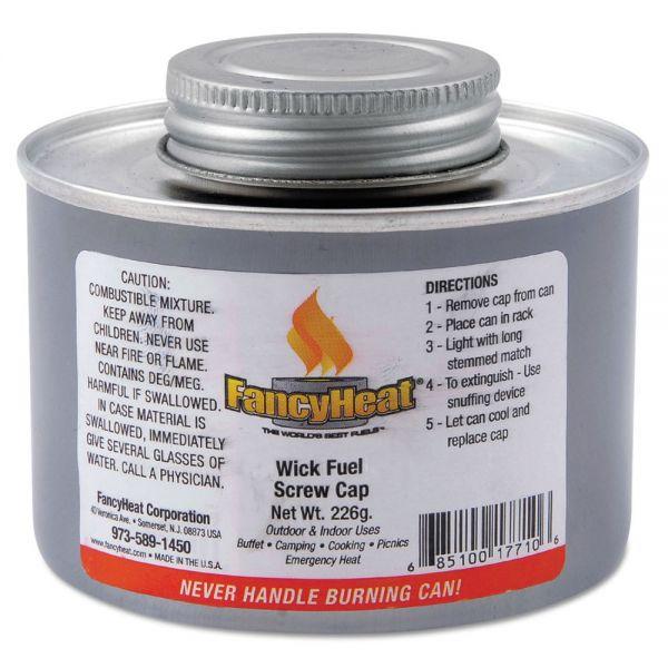 FancyHeat Chafing Fuel Can, Twist Cap Wick, 4 Hour Burn, 8 oz
