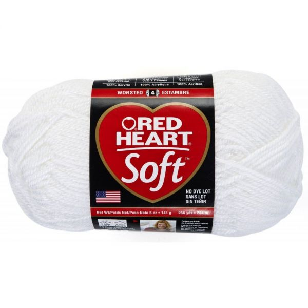Red Heart Soft Yarn - White