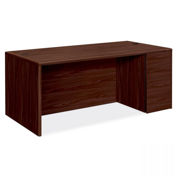 "HON 10700 Series Right Pedestal Desk | 2 Box / 1 File Drawer | 72""W"