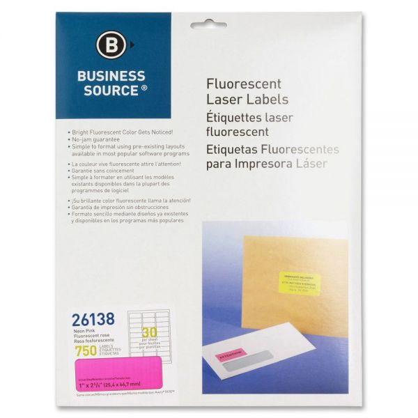 Business Source 26138 Color Coded Fluorescent Labels