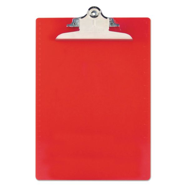 Saunders Recycled Red Plastic Clipboard