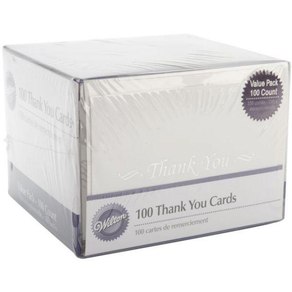 Thank You Cards & Envelopes 100/Pkg