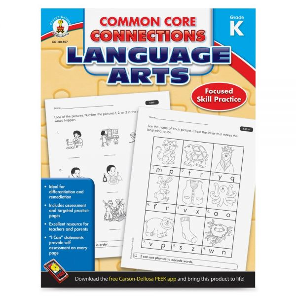 Carson-Dellosa CCC Grade K Language Arts Workbook Learning Printed Book for Art - English