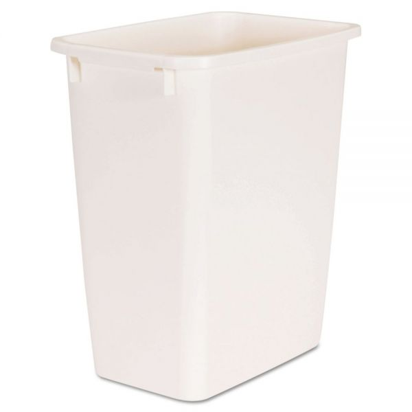 36 Qt Large Open Wastebasket Cool Rubbermaid OpenTop Wastebasket Rectangular Plastic 60 6060 Gal