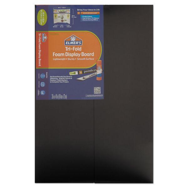 Elmer's CFC-Free Polystyrene Foam Premium Display Board, 36 x 48, Black, 12 per Carton