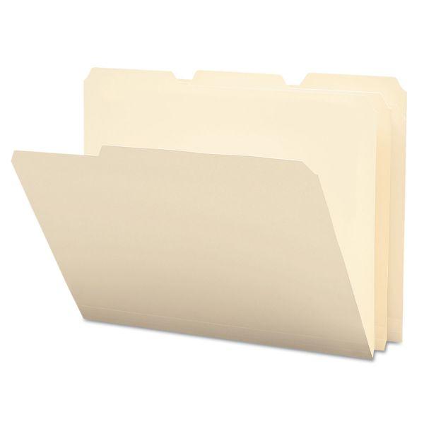 Smead Tear/Moisture-Resist Poly File Folders, 1/3 Cut Top Tab, Letter, Manila, 12/Pack