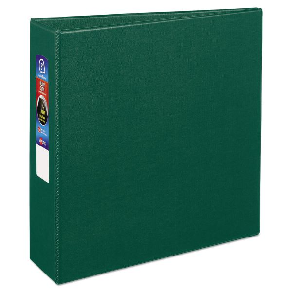 "Avery Heavy-Duty 3-Ring Binder with One Touch EZD Rings, 3"" Capacity, Green"