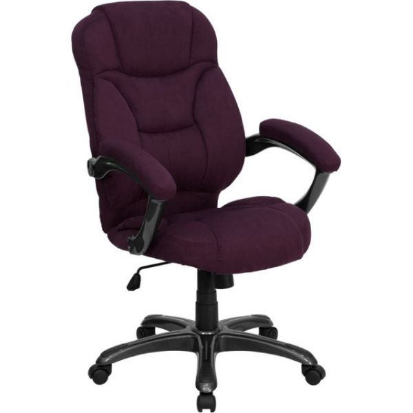 Flash Furniture High Back Contemporary Office Chair [GO-725-GRPE-GG]