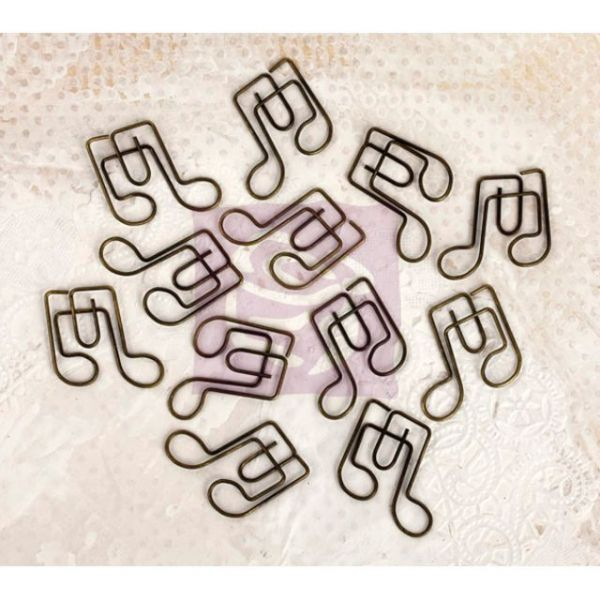 Lyric Shaped Metal Paper Clips 12/Pkg