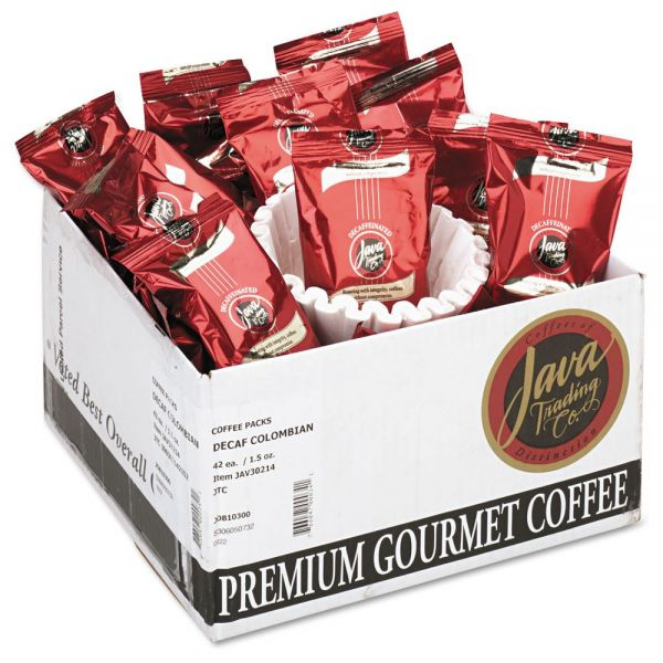 Java One Premium Gourmet Coffee Portion Packs - Decaf