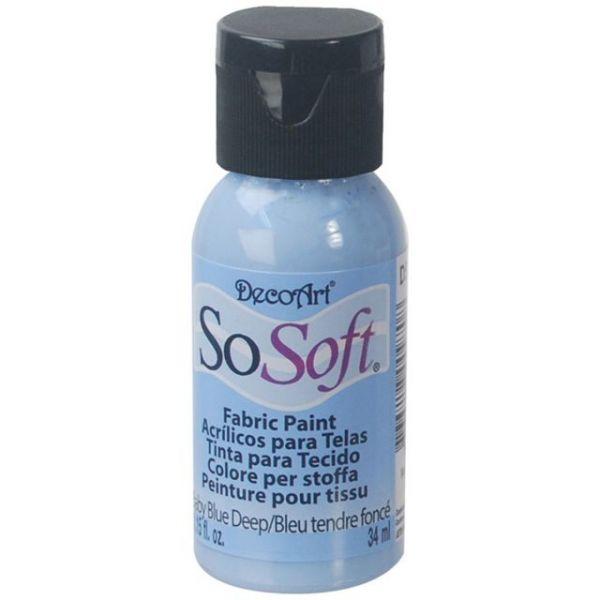 SoSoft Baby Blue Deep Acrylic Fabric Paint
