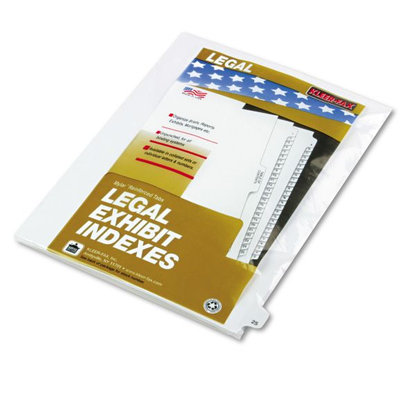 Kleer-Fax 80000 Series Legal Index Dividers
