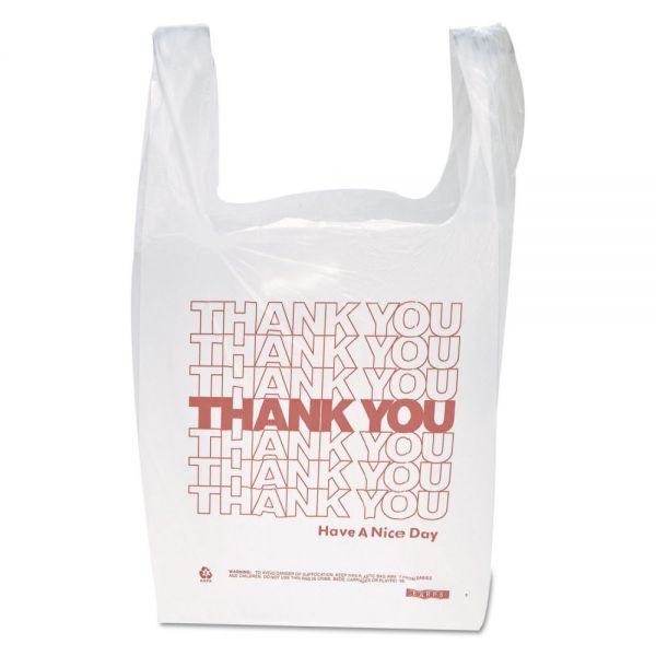 "Inteplast Group ""Thank You"" T-Shirt Plastic Grocery Bags"
