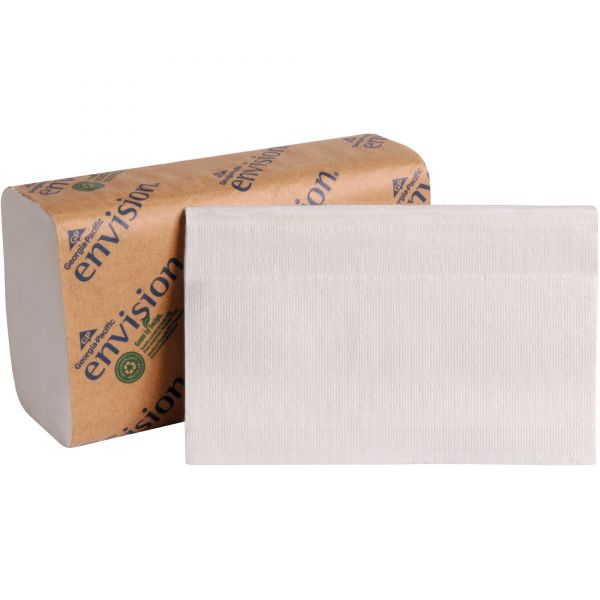 Georgia Pacific Professional Single-Fold Paper Towel, 10 1/4 x 9 1/4, 1-Ply, White, 250 Sheets/Pack, 16 Packs/Carton