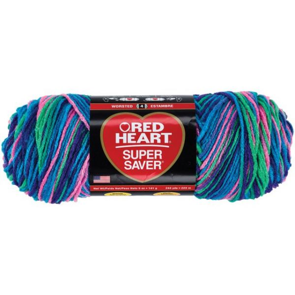 Red Heart Super Saver Yarn - Bright Mix