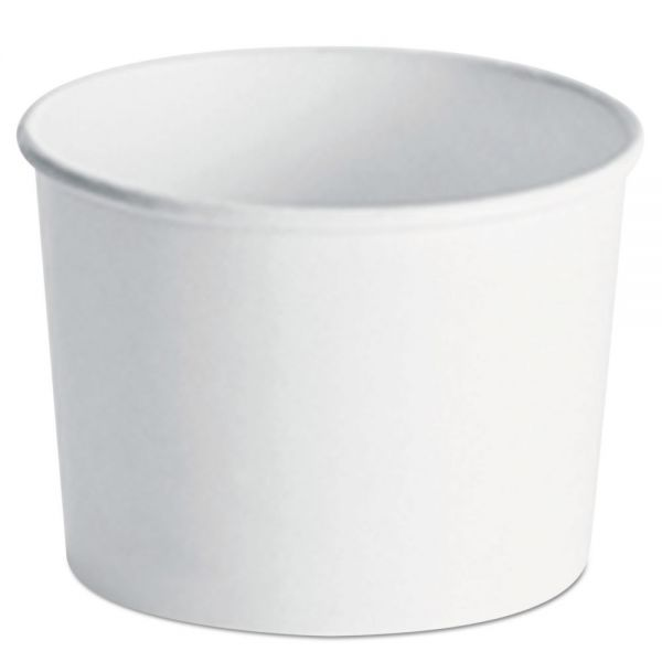 Chinet Paper Food Container with Vented Lid Combo 12, oz, Polycoated, White, 250/Ctn