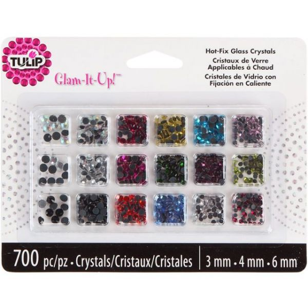 Tulip Glam-It-Up! Hot-Fix Glass Crystals 700/Pkg