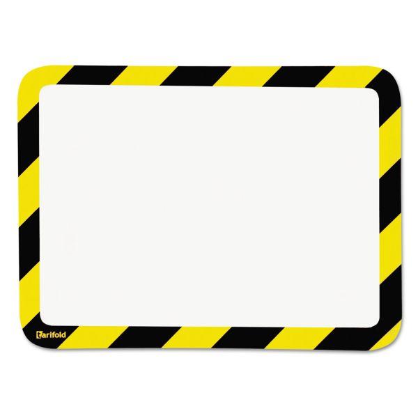 Tarifold, Inc. High Visibility Safety Frame Display Pocket-Magnet Back, 10 1/4 x 14 1/2, YW/BK