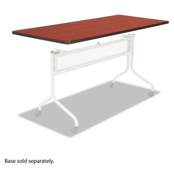 Safco Impromptu Series Mobile Training Table Top, Rectangular, 72w x 24d, Cherry