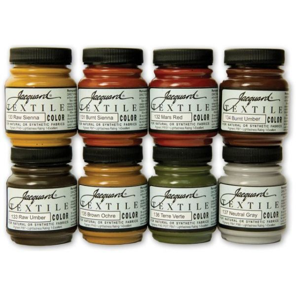 Jacquard Textile Color Fabric Paint 2.25oz 8/Pkg