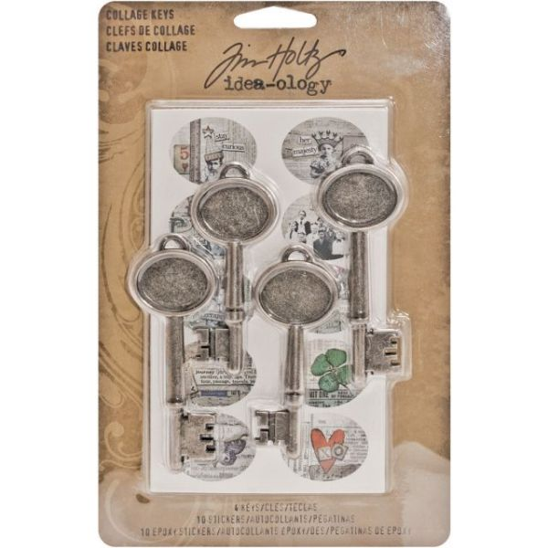"Idea-Ology Collage Keys 3"" 4/Pkg"