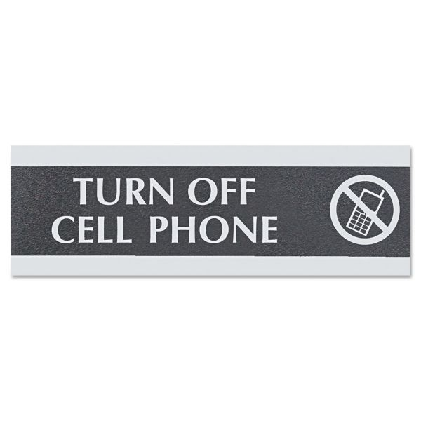 "U.S. Stamp & Sign ""Turn Off Cell Phone"" Sign"