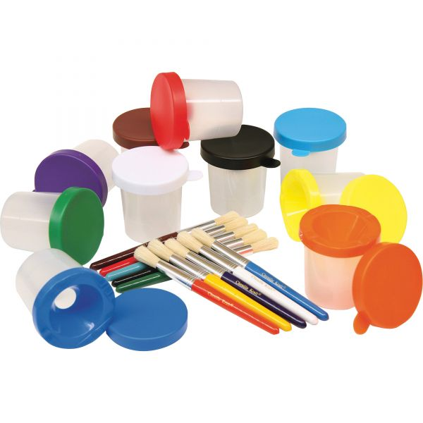 Creativity Street No-Spill Cups & Coordinating Brushes