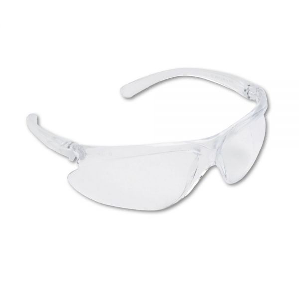 Uvex by Honeywell Spartan 400 Series Wraparound Safety Glasses, Clear Plastic Frame, Clear Lens