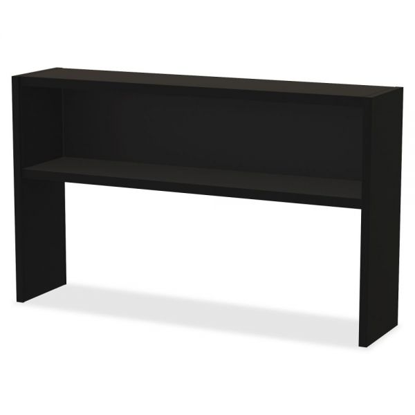 Lorell Modular Desk Series Black Stack-on Hutch