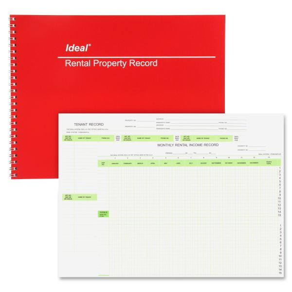 Ideal Rental Property Record Book