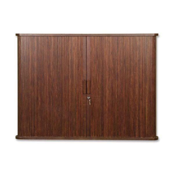 MooreCo Mahogany Tambour Door Conference Cabinet