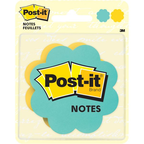 Post-it Super Sticky Daisy Adhesive Notes