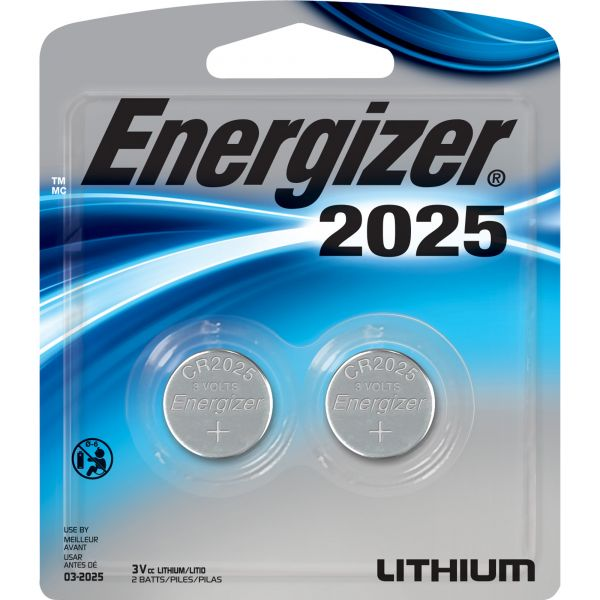 Energizer 2025 3V Watch/Electronic Batteries