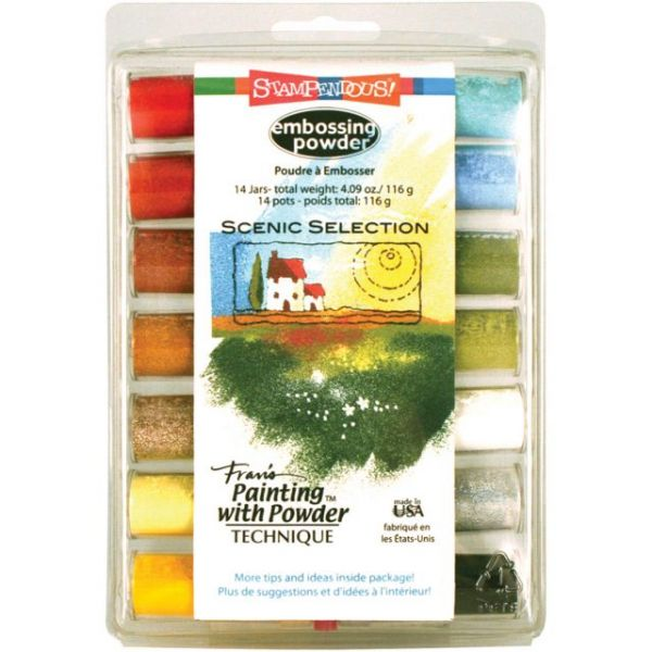 Stampendous Embossing Powder Kit 14/Pkg