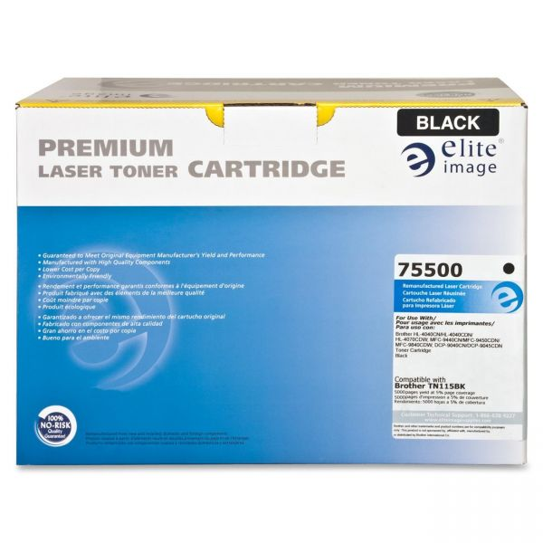 Elite Image Remanufactured Toner Cartridge - Alternative for Brother (TN115BK)
