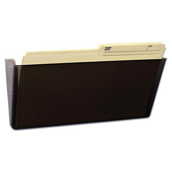 Storex Unbreakable Magnetic Wall File, Letter/Legal, 16 x 7, Single Pocket, Smoke