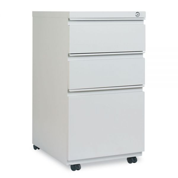 Alera Three-Drawer Pedestal File With Full-Length Pull, 14 7/8 x 19 1/8, Light Gray