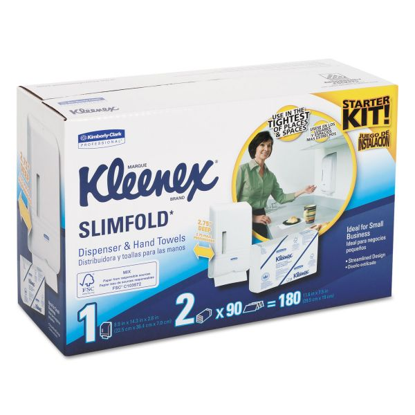 Kleenex Slimfold Hand Towel Dispenser Starter Kit