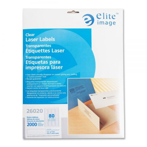 Elite Image Clear Address Labels