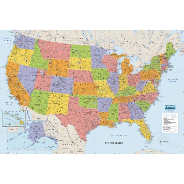 House of Doolittle Laminated United States Map