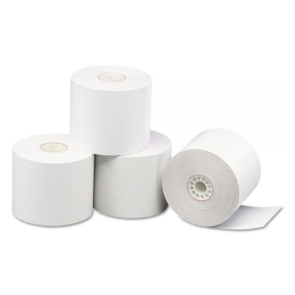 "PM Company Impact Bond Paper Rolls, 2 1/4"" x 165 ft, White, 100/Carton"