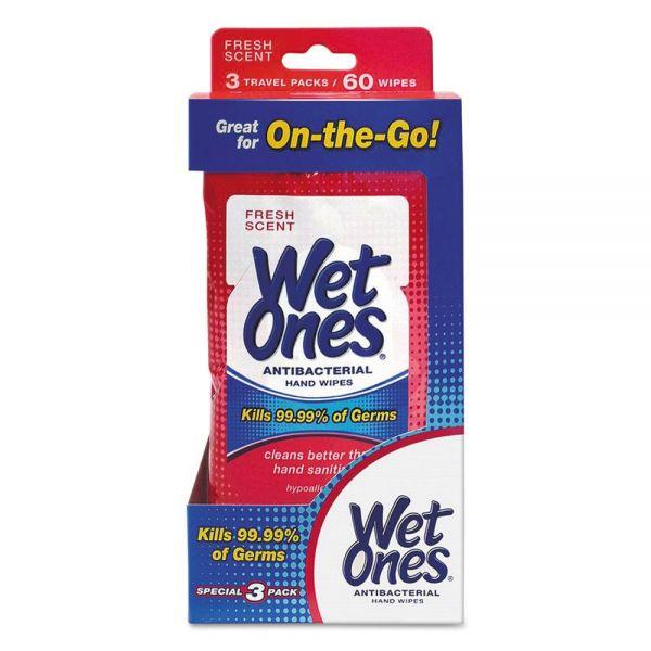 Wet Ones Antibacterial Hand Wipes Travel Packs