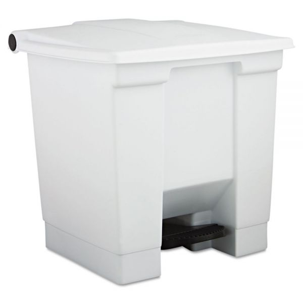 Rubbermaid Step-On 8 Gallon Trash Can With Lid